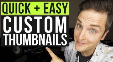 How to Make a YouTube Custom Thumbnail Tutorial